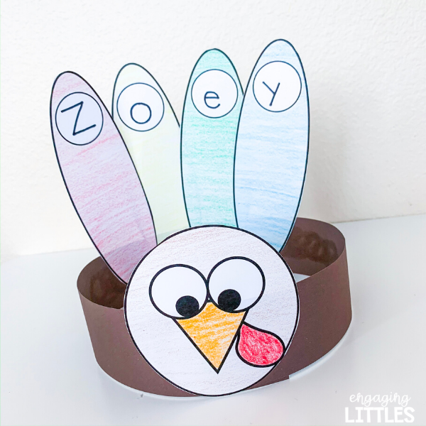fall name craft for kindergarten