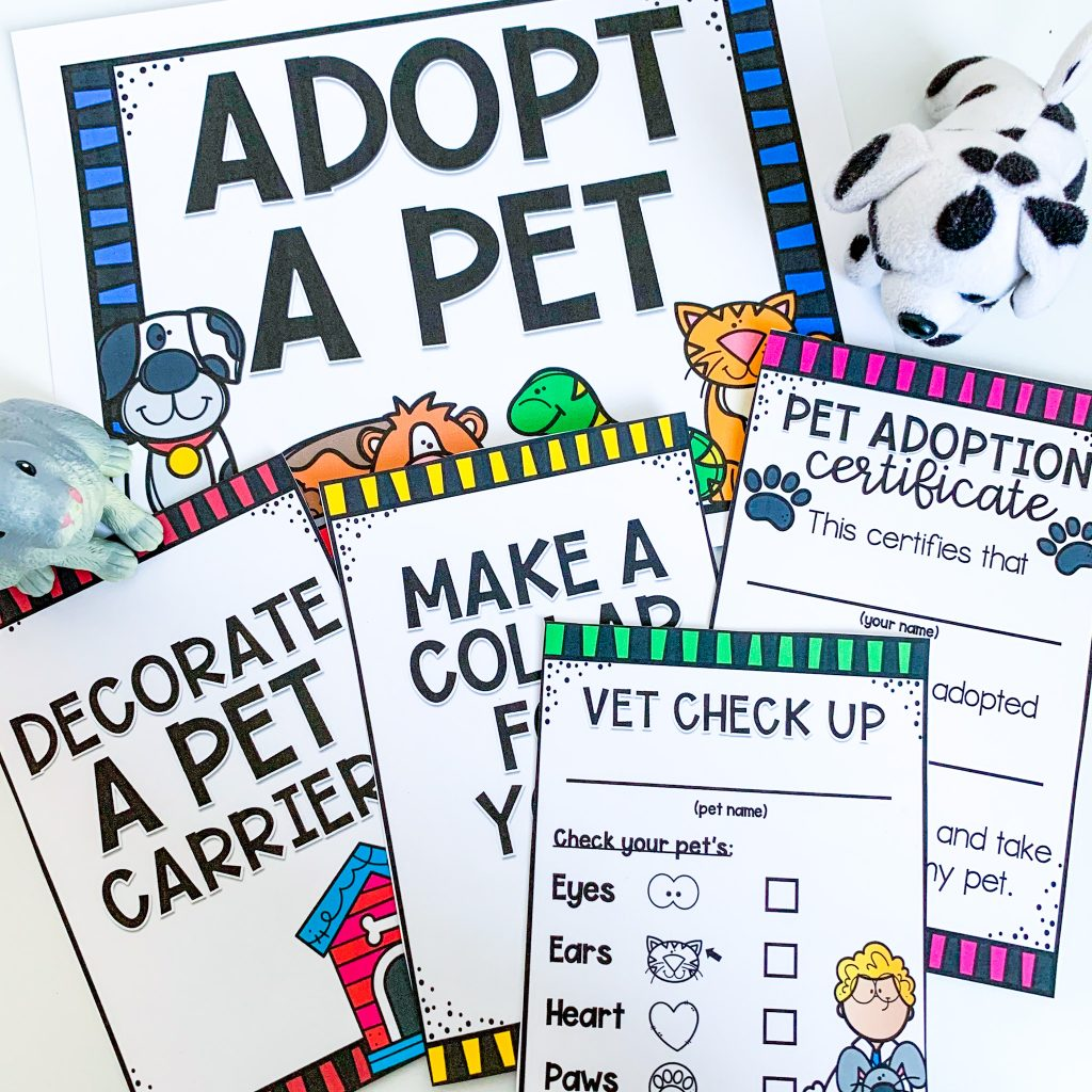 pet themed dramatic play